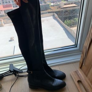 Tory Burch Over the Knee High Leather Boots 7